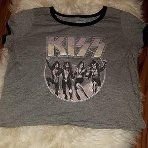 Tops - KISS rock band t-shirt